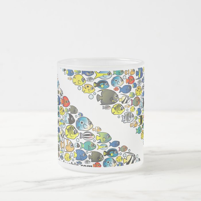 Scubadorable Diver Down Flag Frosted Glass Coffee Mug