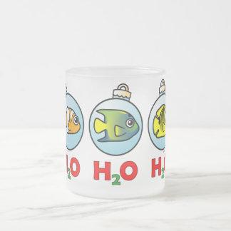 Scubadorable H2O H2O H2O 10 Oz Frosted Glass Coffee Mug