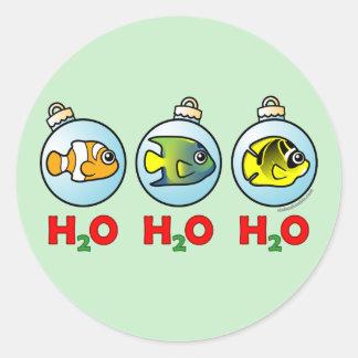 Scubadorable H2O H2O H2O Round Stickers