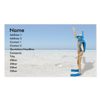 ScubaInstructor, Name, Address 1, Address 2, Co... Double-Sided Standard Business Cards (Pack Of 100)