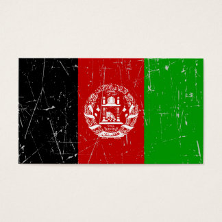 Scuffed and Scratched Afghan Flag Business Card
