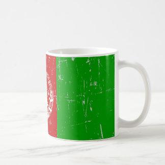 Scuffed and Scratched Afghan Flag Coffee Mug