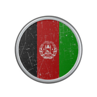 Scuffed and Scratched Afghan Flag Bluetooth Speaker
