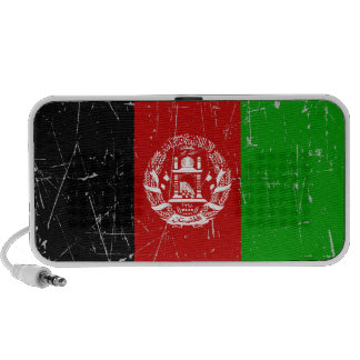 Scuffed and Scratched Afghan Flag PC Speakers