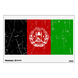 Scuffed and Scratched Afghan Flag Room Decals
