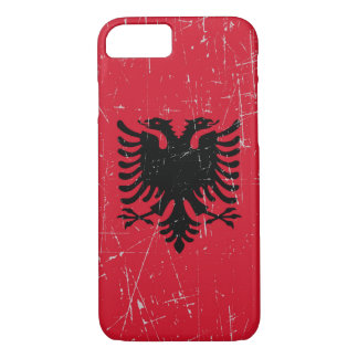 Scuffed and Scratched Albanian Flag iPhone 8/7 Case