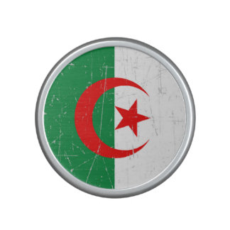 Scuffed and Scratched Algerian Flag Bluetooth Speaker