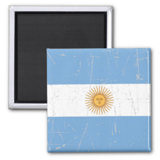 Scuffed and Scratched Argentinian Flag Refrigerator Magnets