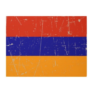 Scuffed and Scratched Armenian Flag Wood Wall Art