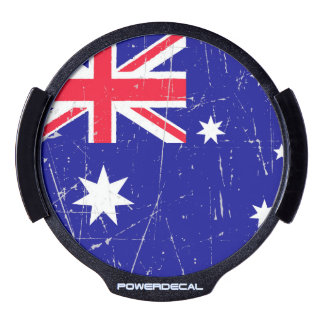 Scuffed and Scratched Australian Flag LED Car Decal