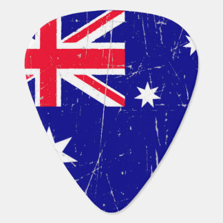 Scuffed and Scratched Australian Flag Pick