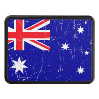 Scuffed and Scratched Australian Flag Tow Hitch Covers