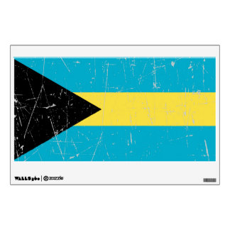 Scuffed and Scratched Bahamas Flag Wall Sticker