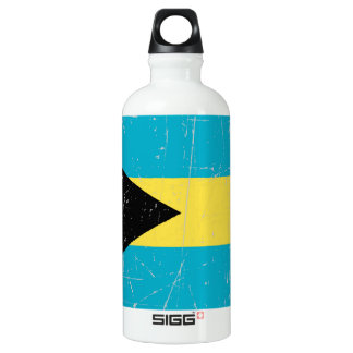 Scuffed and Scratched Bahamas Flag Water Bottle