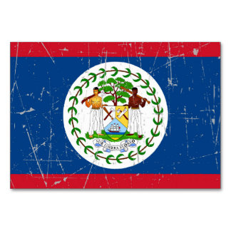 Scuffed and Scratched Belize Flag Table Cards