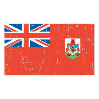 Scuffed and Scratched Bermuda Flag Business Card Templates