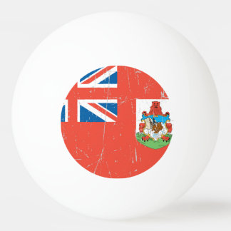 Scuffed and Scratched Bermuda Flag Ping-Pong Ball