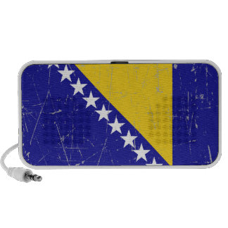 Scuffed and Scratched Bosnia-Herzegovina Flag Laptop Speakers