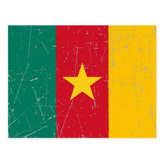 Scuffed and Scratched Cameroon Flag Postcard