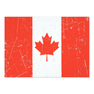 Scuffed and Scratched Canadian Flag Custom Invite