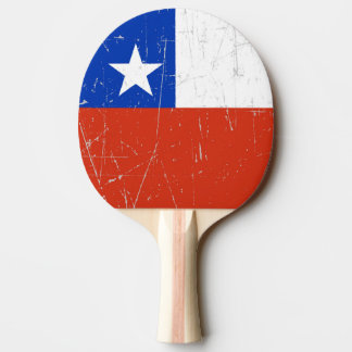 Scuffed and Scratched Chilean Flag Ping-Pong Paddle