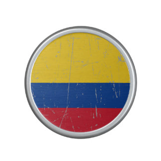 Scuffed and Scratched Colombian Flag Speaker