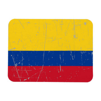 Scuffed and Scratched Colombian Flag Magnets