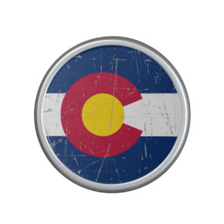 Scuffed and Scratched Colorado Flag Speaker