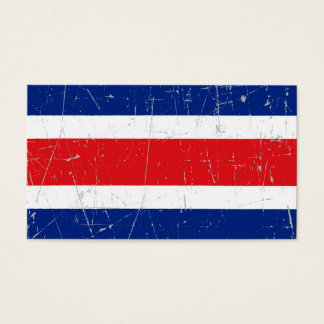 Scuffed and Scratched Costa Rica Flag Business Card