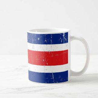 Scuffed and Scratched Costa Rica Flag Coffee Mug