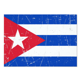 Scuffed and Scratched Cuban Flag Invite