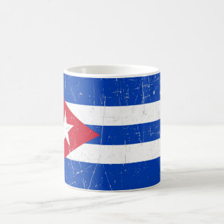 Scuffed and Scratched Cuban Flag Classic White Coffee Mug