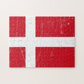 Scuffed and Scratched Danish Flag Puzzles