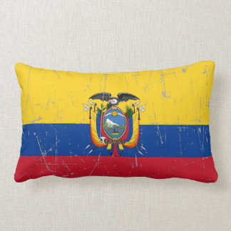 Scuffed and Scratched Ecuador Flag Pillow