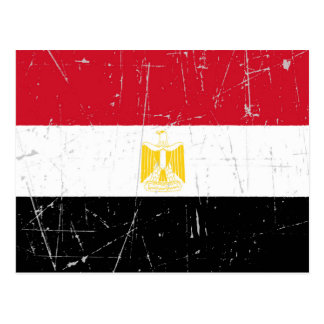 Scuffed and Scratched Egyptian Flag Postcard