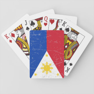 Scuffed and Scratched Filipino Flag Playing Cards