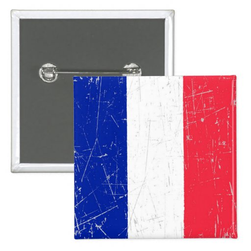 Scuffed and Scratched French Flag Pins