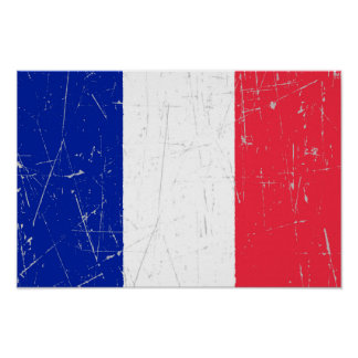 Scuffed and Scratched French Flag Posters