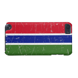 Scuffed and Scratched Gambia Flag iPod Touch (5th Generation) Case