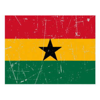 Scuffed and Scratched Ghana Flag Postcard