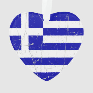 Scuffed and Scratched Greek Flag
