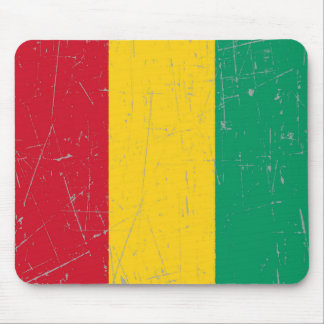 Scuffed and Scratched Guinea Flag Mouse Pad