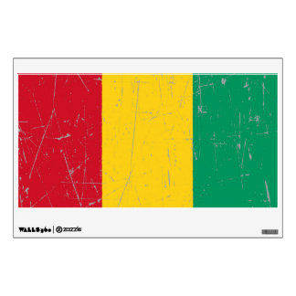 Scuffed and Scratched Guinea Flag Wall Decal