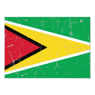 Scuffed and Scratched Guyana Flag Card