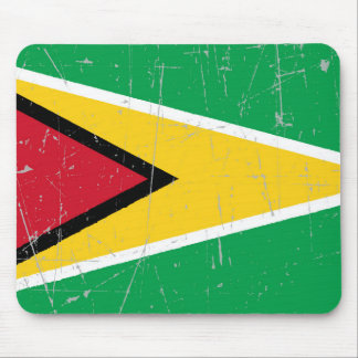 Scuffed and Scratched Guyana Flag Mouse Pad
