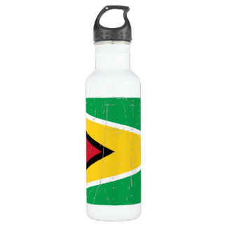 Scuffed and Scratched Guyana Flag Water Bottle