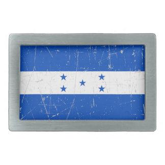 Scuffed and Scratched Honduras Flag Rectangular Belt Buckles