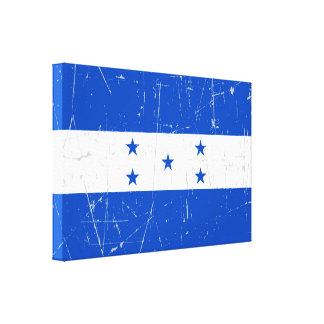 Scuffed and Scratched Honduras Flag Canvas Print