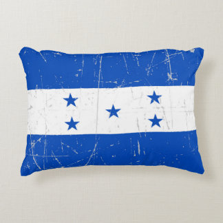 Scuffed and Scratched Honduras Flag Accent Pillow