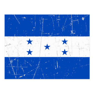 Scuffed and Scratched Honduras Flag Postcard